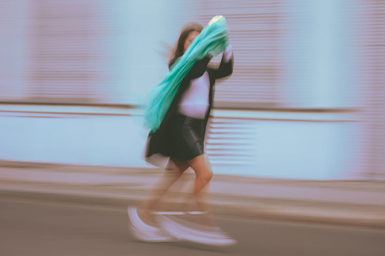 Blurred Motion Motion One Person Side View Full Length Lifestyles Real People Women Running Speed Indoors  Adult Architecture Clothing on the move Skill  Arts Culture And Entertainment Healthy Lifestyle Men My Best Photo Exploring Fun