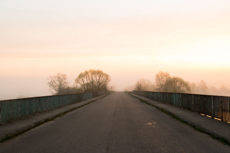 EyeEm Nature Lover Poland Road Travel Photography Empty Road Eye Eye4photography  Fog Long No People Outdoors Pastel Colors Sky Sunset