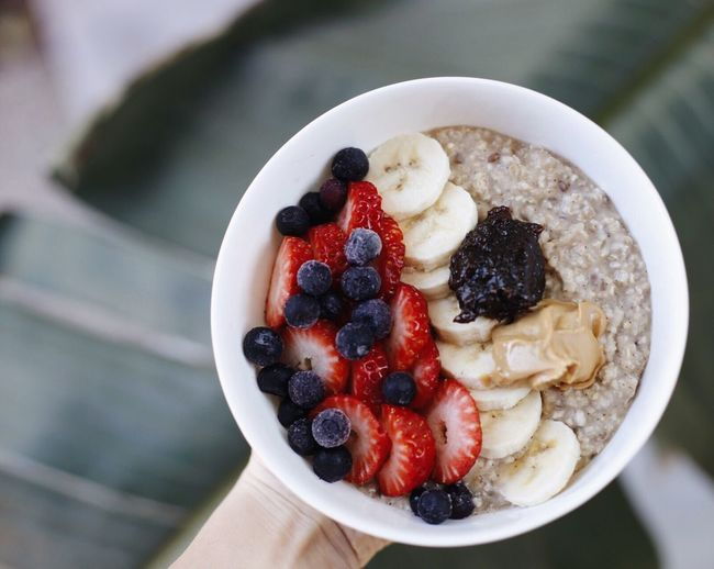 Oatmeal, my favorite breakfast Oatmeal Blueberry Fruit Food And Drink Berry Fruit Raspberry Food Freshness Focus On Foreground Blackberry - Fruit Healthy Eating Breakfast Sweet Food Indulgence Close-up Bowl Blackberry Ready-to-eat Indoors  Dessert One Person