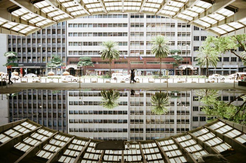 Makati Stock Exchange Building 35mm Film Architecture Asahipentaxspotmatic City Life EyeEm Best Shots EyeemPhilippines I Love My City Kodakcolorplus200 Reflections Supermulticoatedtakumar35mm3.5 Urban