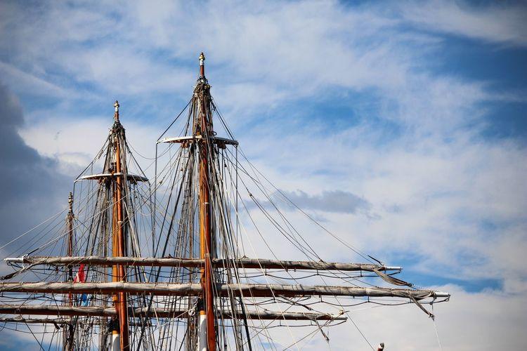 EyeEm Selects my favorite too!! Cloud - Sky Outdoors Day No People Nautical Vessel Sky Tall Ship Nature Sailing Ship Amarigo Vespucci EyeEm Best Shots