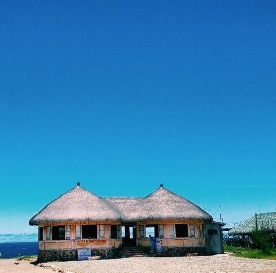 Bahay Kubo Blue Sky Nipa Hut One Summer Day Summer Summertime Enjoying Life Relaxing Hanging Out IPhoneography Travel Photography