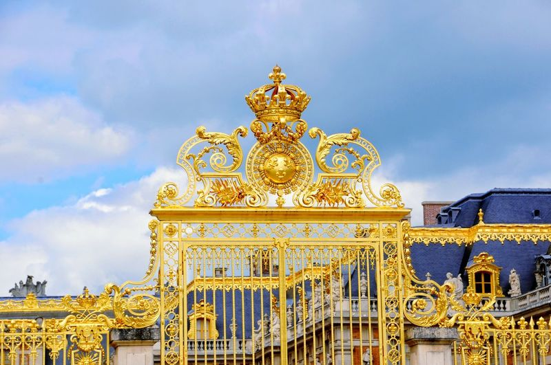 Gold Entrance Gate Of Chateau De Versailles
