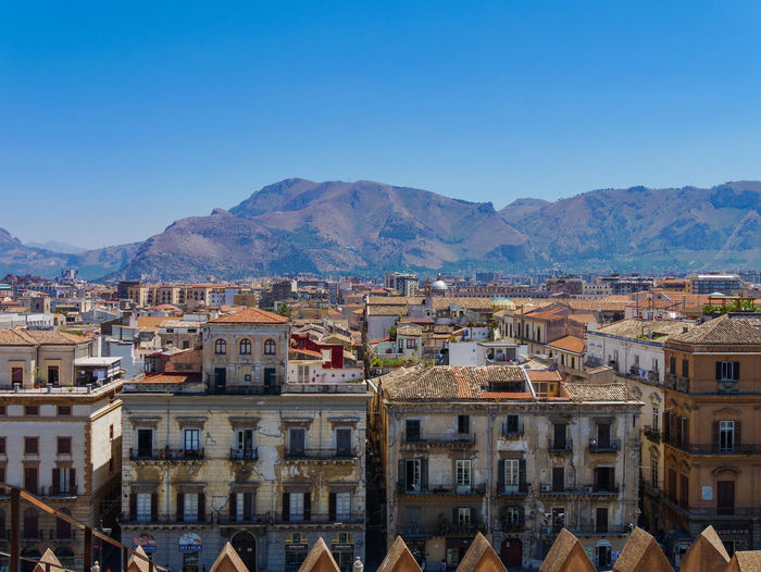 Architecture City Cityscape EyeEm Best Shots Palermo Roof Rooftop Sicilia Sicily Travel View Blue Building Building Exterior Built Structure Cattedraledipalermo Day House Italy Mountain No People Photography Residential Building Sky Travel Destinations
