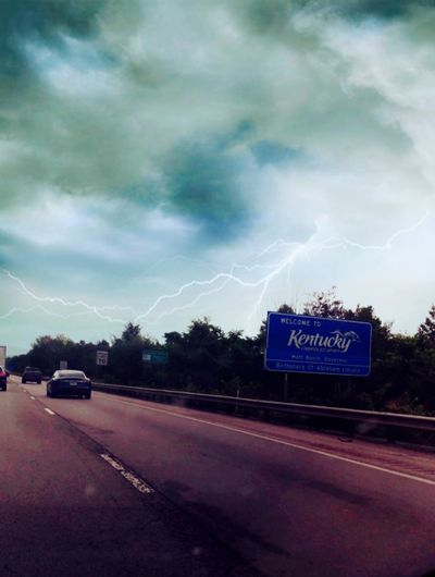 Welcome to Kentucky... Road Storm Power In Nature Cloud - Sky Dramatic Sky Lightning Outdoors Beauty In Nature No People Kentucky Interstate The Week On EyeEm