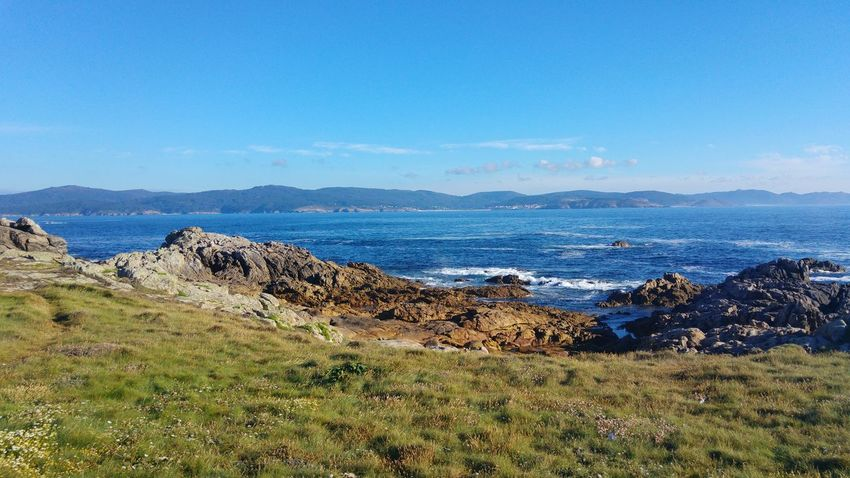 No People Outdoors Nature Sea Mountain Day Grass Landscape Beach Blue Beauty In Nature Scenics Sky Water Horizon Over Water Faro Roncudo Galicia, Spain