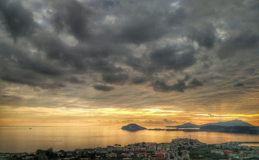 Sunset Pozzuoli, Sunset, Pozzuoli Sea Cloud - Sky Landscape Sky Horizon Beauty Water No People Clouds And Sky Mauryhappy Happyness Is A State Of Mind .. EyeEm Selects EyeEmNewHere Autumn Colors