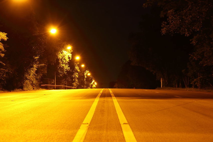 Empty Streets Light Road Background Backgrounds City Direction Empty Empty Road Highway Illuminated Nature Night No People Outdoors Road Sign Street Street Light The Way Forward Transportation Tree