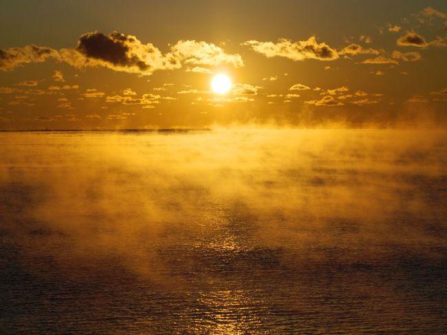 Fog On The Water Morning Morning Light Morning Sky Fog Fog Over Water Sunrise