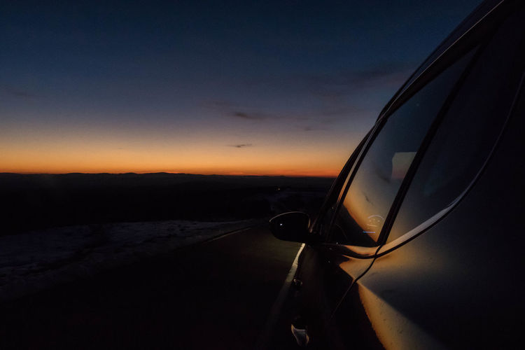 Roadtrip Road Car Peugeot 2008 Sunset Samos Peugeot Winter Landscapes With WhiteWall