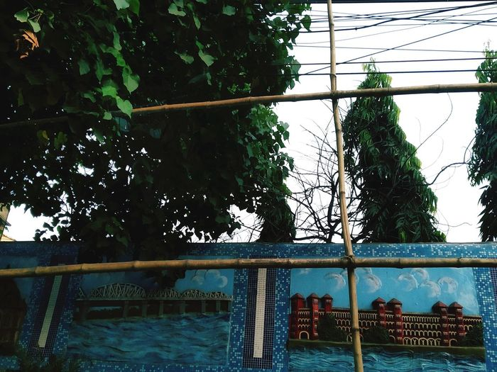 Street Art. EyeEmNewHere Bridge Wave Howrah Station Hues Of Blues Wall Art Streetphotography On The Road Artistic Cultural Heritage Cultural Heritage Water Architecture Building Exterior Built Structure