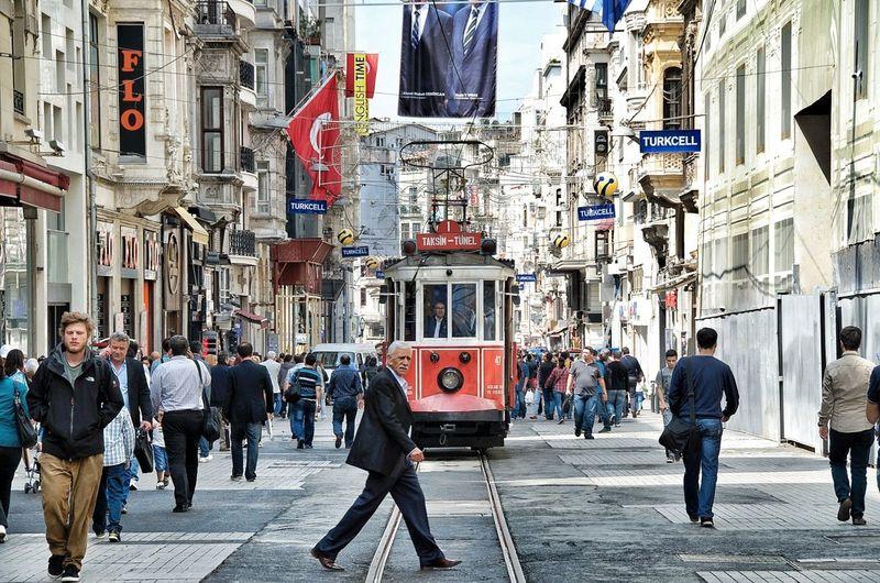 Istiklal Street - Istanbul, Turkey Street Istiklal Caddesi Travel Photography Istanbul