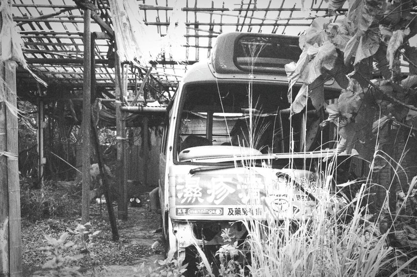 Taking Photos Abandoned Places Abandoned Junkyard Blackandwhite Monochrome Black And White Photography Minivan HongKong Shek O 鶴咀 Village B&w Photo Old CarPollution In My World LonelinessLeicacamera Leicat Grainy Images Abandonedplaces Abandoned Car Getting Inspired Discoverhongkong Junk Cars The Secret Spaces Place Of Heart The Street Photographer - 2017 EyeEm Awards
