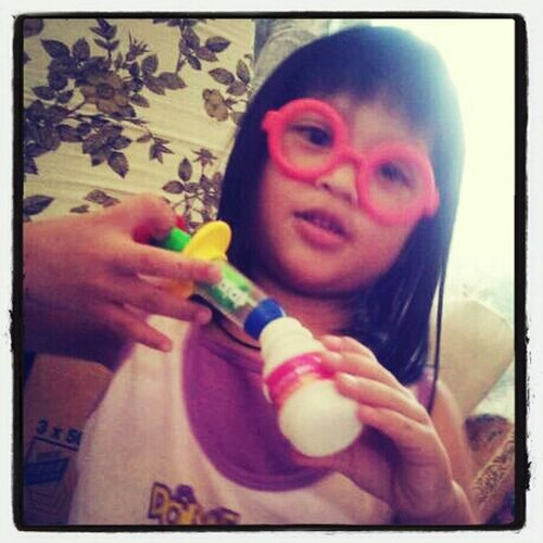 she tyring to be a nurse.. my lovely niece..