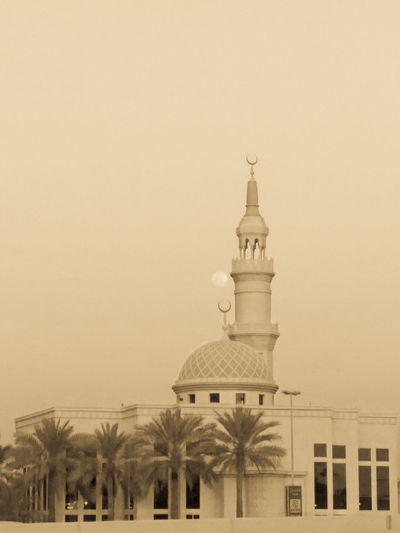 Mosque against clear sky