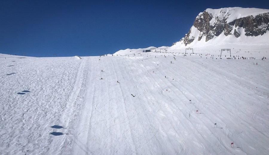 Wintersports Kaprun Austrian Alps Austria Kaprun, Austria Wintersport Adventure Alps Beauty In Nature Clear Sky Cold Temperature Day Frozen Kaprun Landscape Mountain Nature No People Outdoors Scenics Sky Snow Snowcapped Mountain Tranquil Scene Tranquility Weather White Color Winter