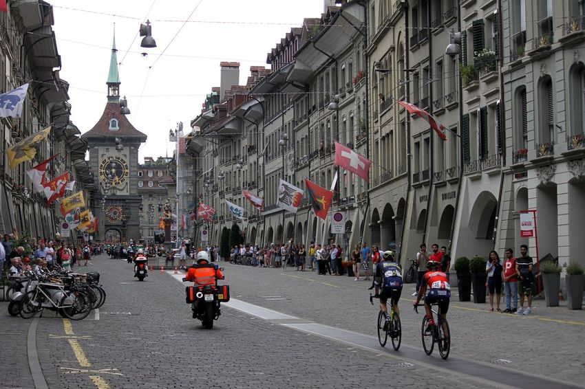 Tour De Suisse Cycling Bicycle City Bern, Switzerland Old Town Tourist Destination Switzerland Street HJB Outdoors Sport Sport Event Zytglogge