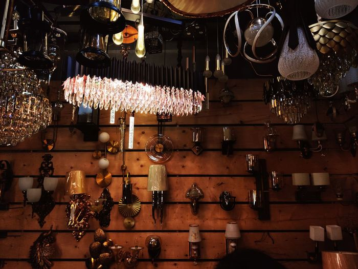 Close-up of hanging for sale at market stall