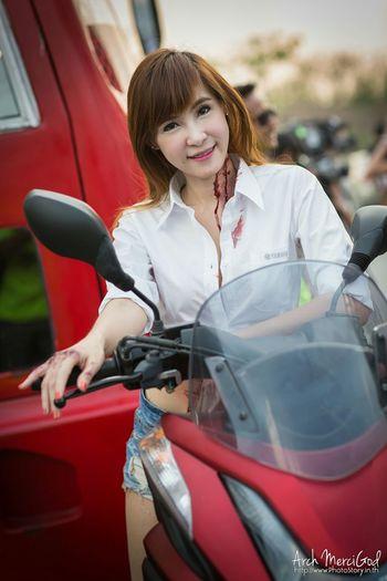 Run For Your Lifes Thailand http://www.photostory.in.th http://fb.me/ArchMerciGod Beautiful Girl RFYLasia Cute Model Pose Yamaha Portrait Rfylth Modelgirl Sexygirl RFYL