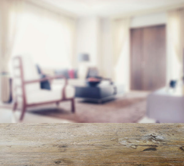 Surface level view of wooden floor