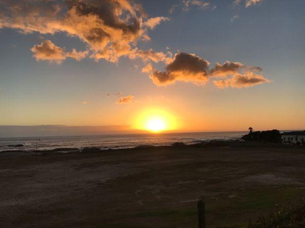 Sunset Sea Beauty In Nature Scenics Nature Sky Beach Horizon Over Water Sunlight Cloud - Sky Landscape Sand