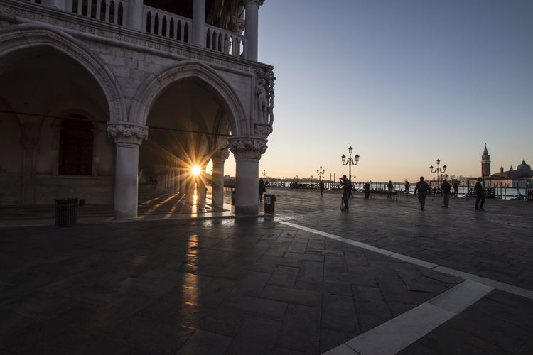 Low Angle View Of Doges Palace - Venice Against Sky During Sunset