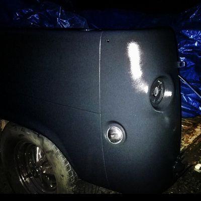 2 coats of epoxy primer just before night. Boogievan Ford Econoline Primer classictruck