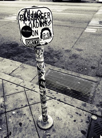 L.A. Losangeles Pole In Front Of Supreme L.A. Taging  Street