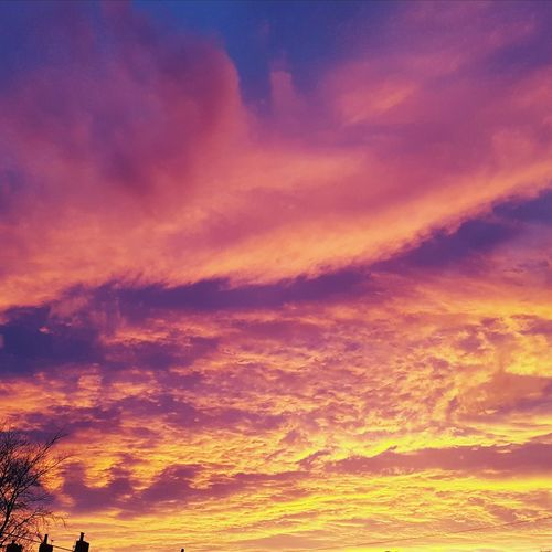 Great sky tonight Space Sunset Multi Colored Beauty Astronomy Red Gold Colored Yellow Sky Only Atmospheric Mood Cumulus Cloud Meteorology Cloudscape Dramatic Sky