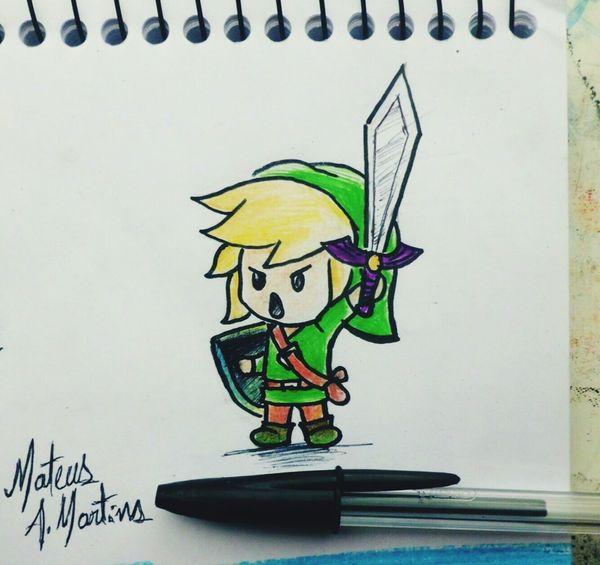 """😍Pequeno Link da franquia de jogos """"A lenda de Zelda"""" Art Color Drawing Design Colorful Draw Sketchbook Arte Sketch Pencil Drawing Dibujo Fanart Criatividade Desenho Pencilart Nitendo Game Jogos GBA Gbc Nds 3DS N64 Criativity Multi Colored"""