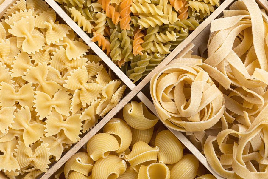 Abundance Backgrounds Close-up Day Detail Full Frame Fusilli Italian Pasta Large Group Of Objects No People Part Of Pasta Pipe Rigate Still Life Tagliatelle Yellow
