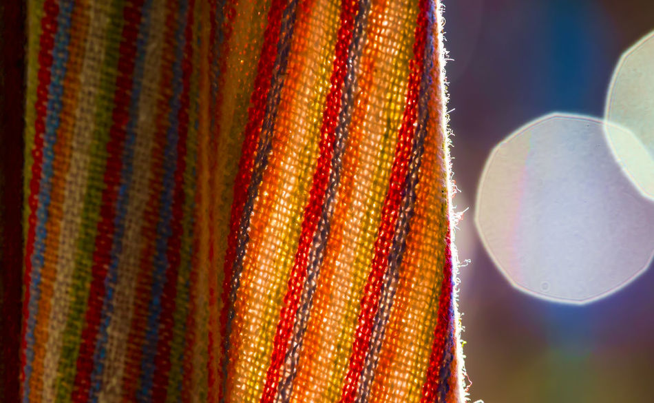 Curtain in the breeze Backlit Subject Close-up Curtain Day Drape Multi Colored No People Outdoors Textile