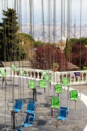 Tibidabo Amusement Park Barcelona Tibidabo Tibidabo Mountain Barcelona From Above