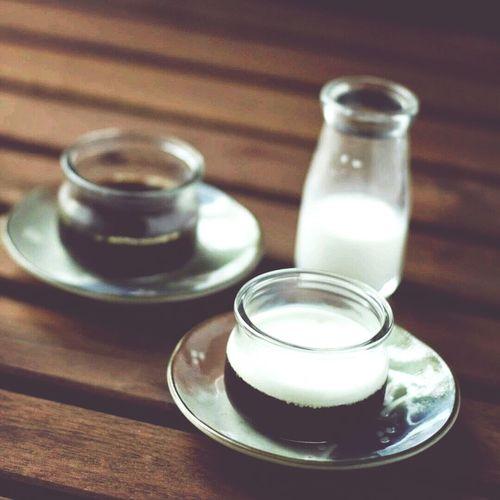 Homemade Dessert: coffee jelly.