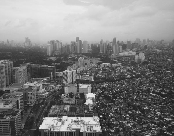 Architecture Building Exterior City Cityscape Built Structure Black And White Blackandwhite Makati Makati City Manila Manila, Philippines Crowded High Angle View Modern Day Outdoors Sky Downtown Skyline EyeEm Best Shots Eye4photography  EyeEmBestPics EyeEm Best Shots - Black + White EyeEm EyeEm Gallery