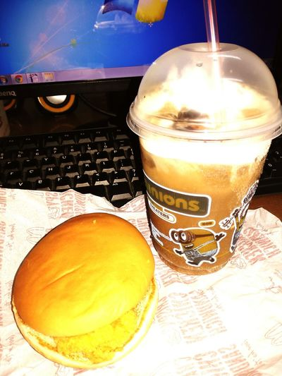 Thanks For Snacks Crispy Chicken Sandwich Cokefloat Friendship Taking Photos Workmode ON!!! At Office... Snacktime