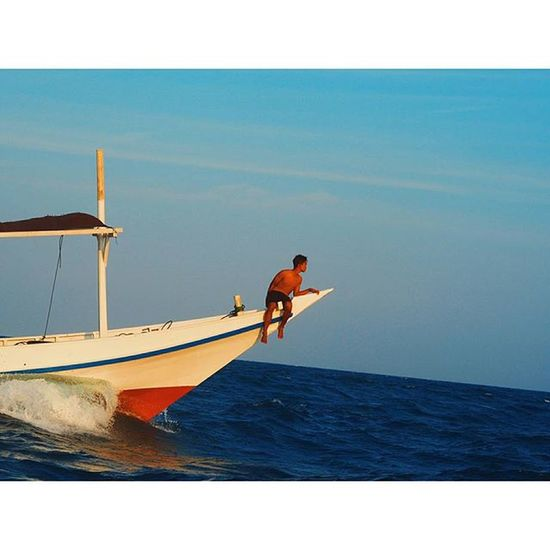 Chiller INDONESIA Sea Mare Javasea Boat Blue Travellingindonesia Travelling Sun Summer Boy Travel Indonesian