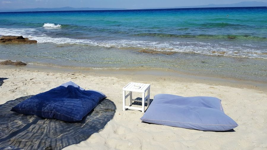 Beach Summer Holiday Enjoyment Sea Afitos, Greece Afitosbeach Enjoy The New Normal