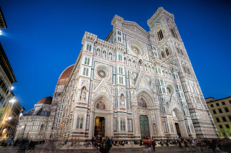Architecture Blue Building Exterior Built Structure Capital Cities  Cathedral Cattedrale Di Santa Maria Del Fiore Church Façade Famous Place Firenze Florence History International Landmark Italy Italy❤️ Low Angle View Place Of Worship Religion Santa Maria Del Fiore Spirituality Tourism Tourist Travel Travel Destinations