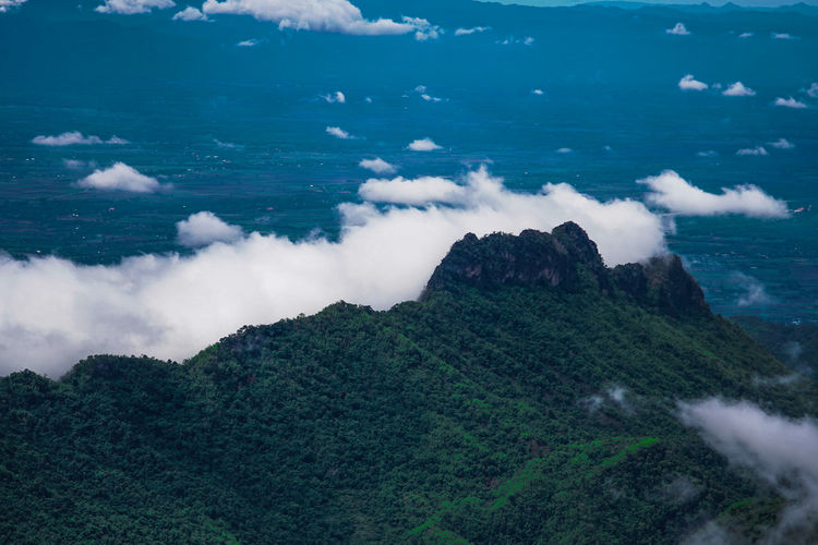 Foggy in Phutubberk , Phetchabun Scenics - Nature Beauty In Nature Cloud - Sky Tranquility Tranquil Scene Sky Nature Day Mountain No People Non-urban Scene Landscape Environment Land Idyllic Outdoors Aerial View Green Color Sea Water Power In Nature Pollution