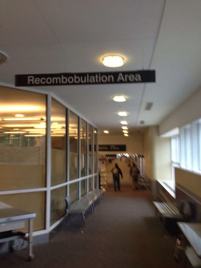 """As many of you may now know I spend a fair amount of time in airports ... At times I have seen passengers get flustered or maybe discombobulated ... But at the airport in Milwaukee WI they have thought of everything ... they even have a """"Recombobulatioan Area"""" ... with that said Lets Have A Funny Friday ... Thx so much for the invite"""