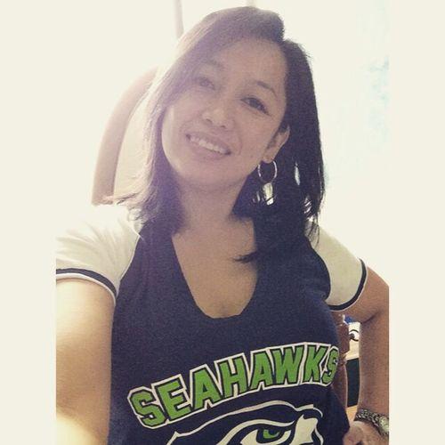 This Is Me happy Blue Friday Seahawks go Hawks. Selfie