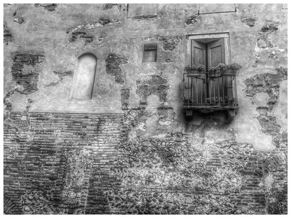 Architecture Built Structure Auto Post Production Filter Transfer Print Building Exterior Window Wall - Building Feature Waterfront Old Water Outdoors Growth Day Weathered Exterior Canal Repetition Arch Full Frame Stone Material Black And White Friday