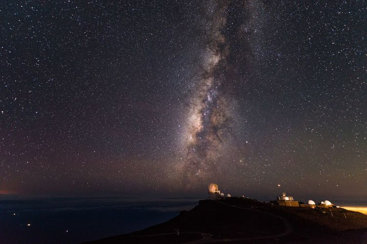 Haleakala Against Star Field During Night