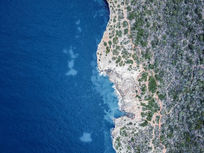 Drone  Mallorca SPAIN Architecture Beach Beauty In Nature Blue Day Nature No People Outdoors Scenics Sea Sky Tranquil Scene Tranquility Tree Water Wave