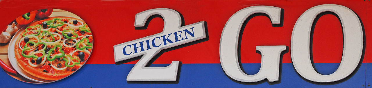 Chicken 2 Go Chicken Shop Close-up Day Eating Out Fast Food Outlet Fast Food Restaurant Food No People Outdoors Pizza Shop Quick Food Postcode Postcards