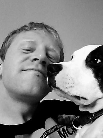 Staffy Staffylovers Staffygram Staffysofinstagram Staffysmile Staffyslife Staffyoftheday Person Leisure Activity Headshot Young Adult Lifestyles Young Men Togetherness Human Face Domestic Life Domestic Animals Blackandwhite