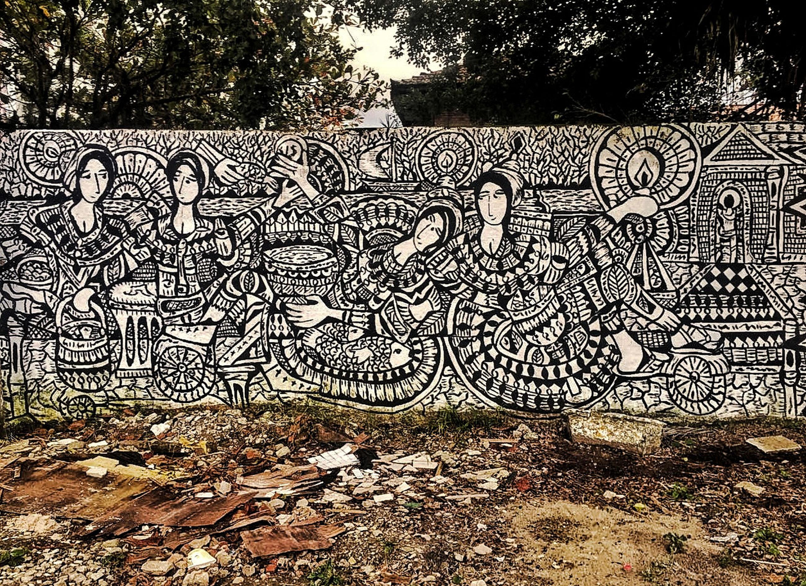graffiti, creativity, art and craft, tree, day, outdoors, no people, architecture, nature
