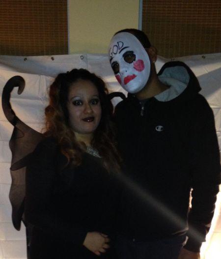 Halloween Night My Date And I Enjoying Life