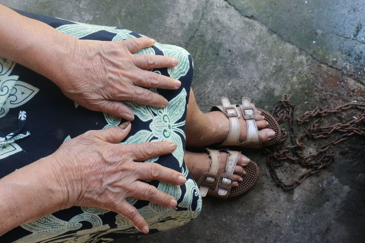 Life  journey as seen through the hands and feet